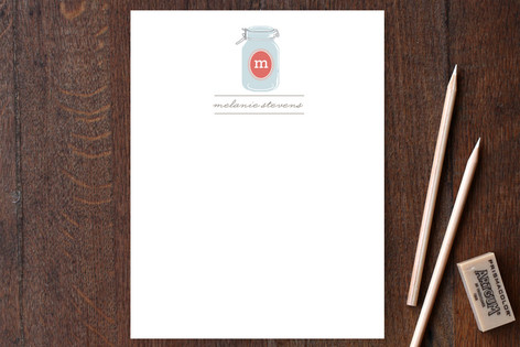 Canning Jar Personalized Stationery
