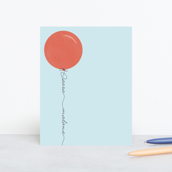 """""""Up"""" - Modern Personalized Stationery in Amaranth by Sara Hicks Malone."""