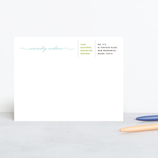 Business or Pleasure Personalized Stationery