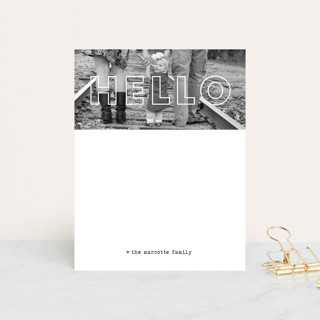 See Right Through Personalized Stationery