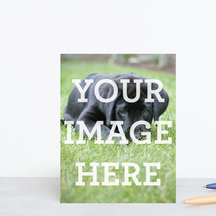 """The Big Picture"" - Modern, Simple Personalized Stationery in White by Minted Custom."