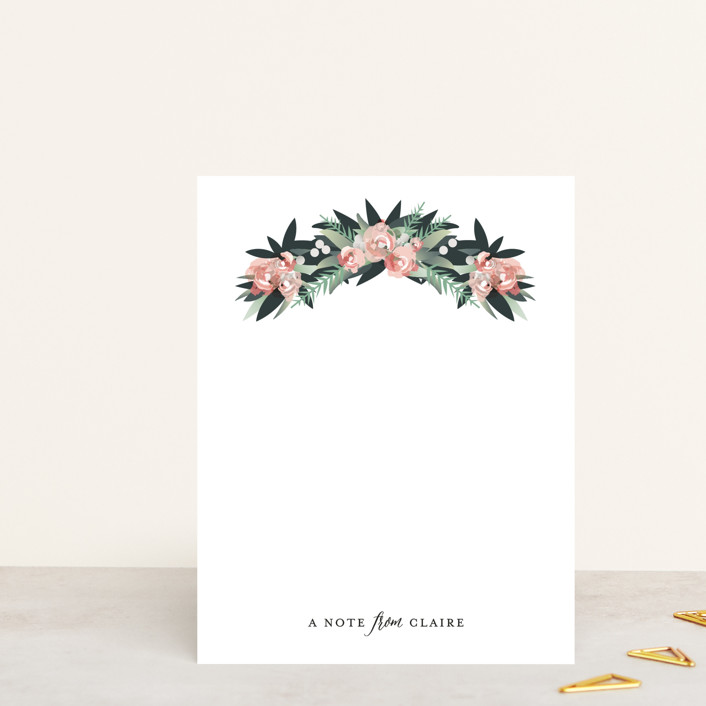 """""""Floral Arch"""" - Personalized Stationery in Petal by Jennifer Postorino."""