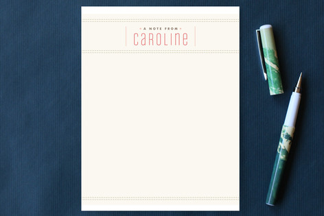 Modern Lines Personalized Stationery