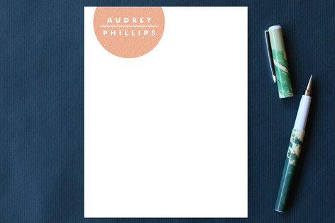 Simple Seal Stitch Personalized Stationery