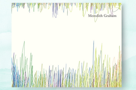 Line Blur Personalized Stationery