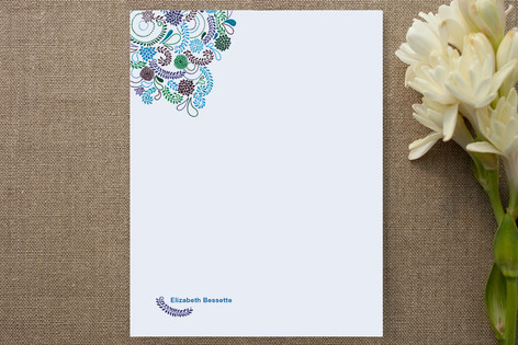 Flower Patterned Personalized Stationery