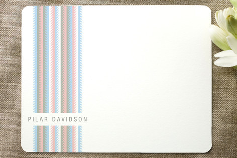 Zip Stripe Personalized Stationery