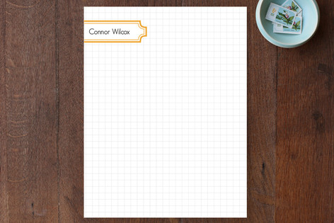 Grid with Label Personalized Stationery