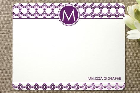 Mod Disc Monogram Personalized Stationery