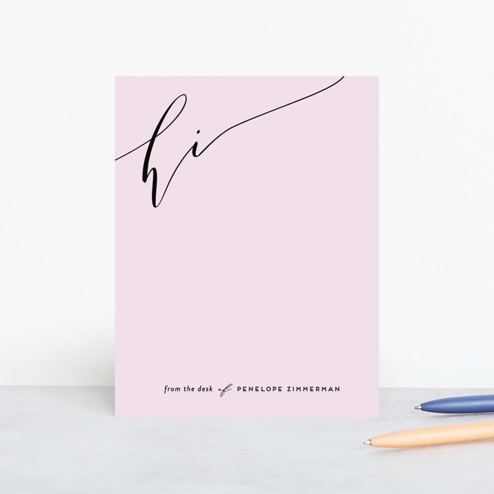 """""""Elegant Note"""" - Personalized Stationery in Poppy by Simona Cavallaro."""
