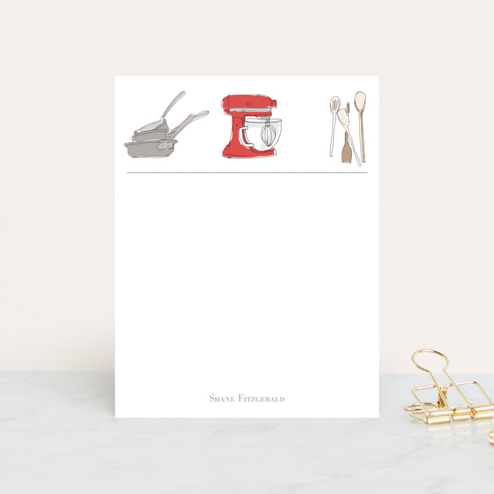 """""""Chef Notes"""" - Vintage Personalized Stationery in Tomato by Tefi Fleck."""
