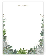 This is a white mothers day gifts stationery by Susan Moyal called Climbing Succulents with standard printing on signature.