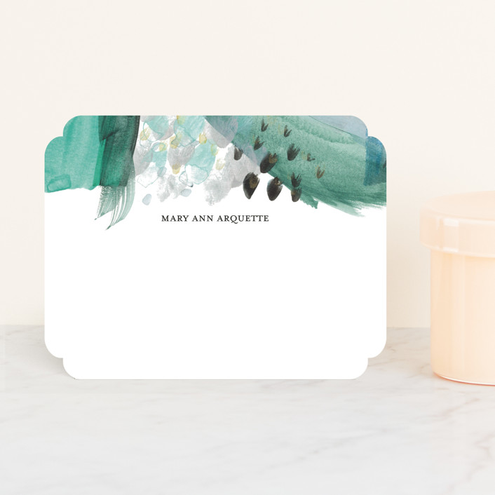 """""""Abstract Midnight"""" - Whimsical & Funny Personalized Stationery in Porcelain by Erika Firm."""