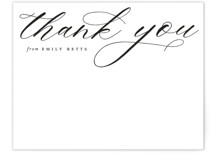 This is a black and white mothers day gifts stationery by Emily Betts called Elegant Thank You with standard printing on signature.