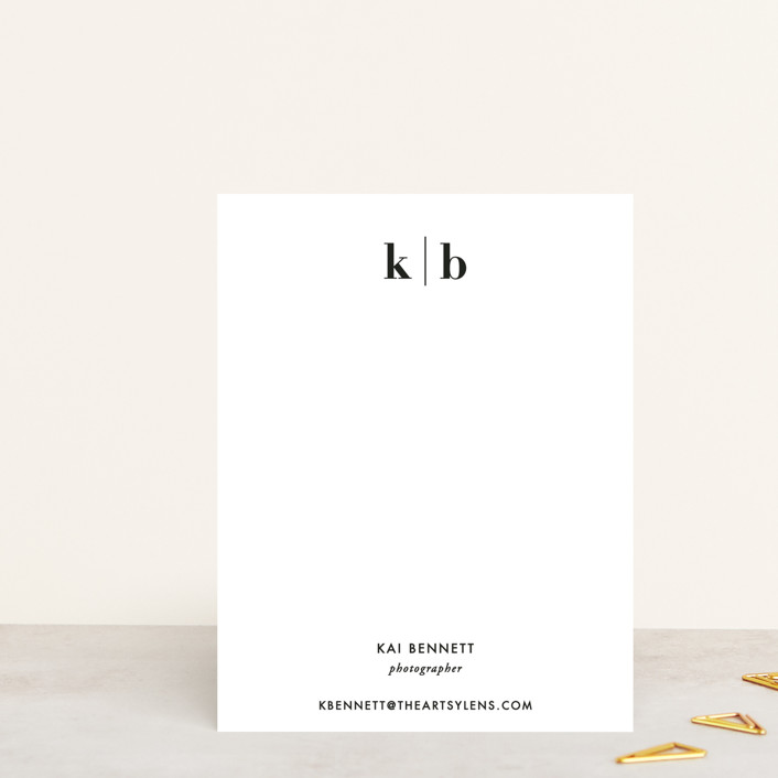 """""""Honorable"""" - Monogrammed, Formal Personalized Stationery in Onyx by Jennifer Postorino."""