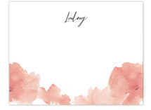 This is a red mothers day gifts stationery by Lori Wemple called Soft Florals with standard printing on signature.
