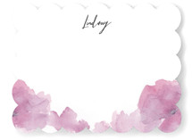 This is a purple mothers day gifts stationery by Lori Wemple called Soft Florals with standard printing on signature.