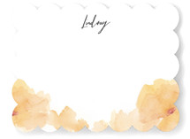 This is a yellow mothers day gifts stationery by Lori Wemple called Soft Florals with standard printing on signature.