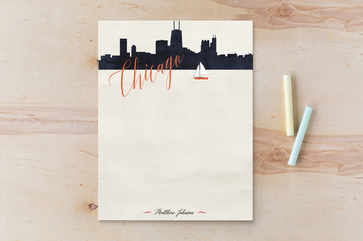 """""""Living the Dream - Stationary"""" - Personalized Stationery in Cream by Elky Ink."""