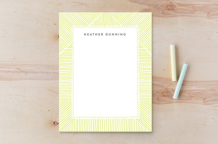 """""""Striped Gift Tag"""" - Personalized Stationery in Daffodil by Alethea and Ruth."""