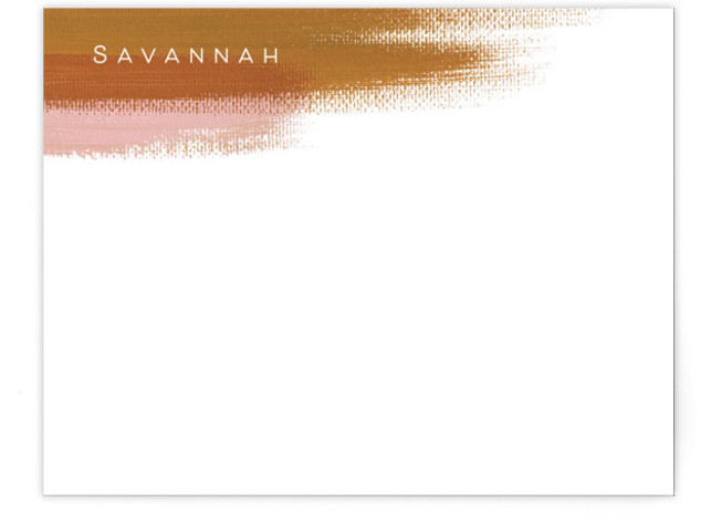 Painterly Personalized Stationery