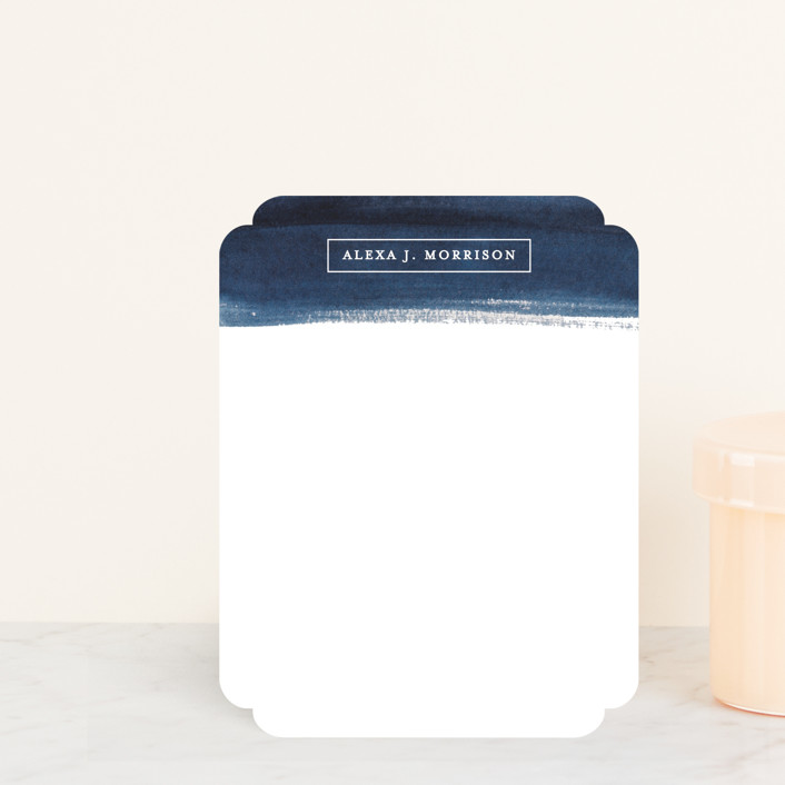 """""""ALEXA"""" - Modern Personalized Stationery in Navy by lulu and isabelle."""
