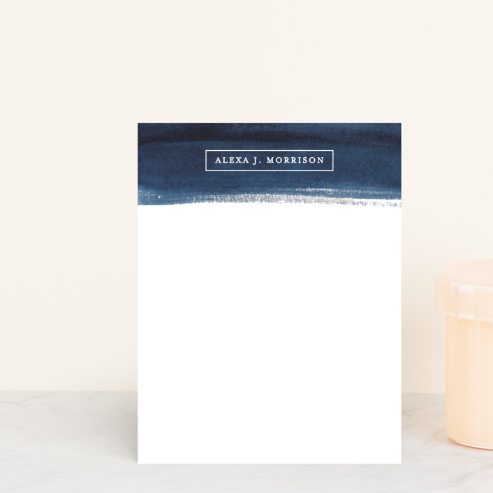 """ALEXA"" - Personalized Stationery in Navy by lulu and isabelle."