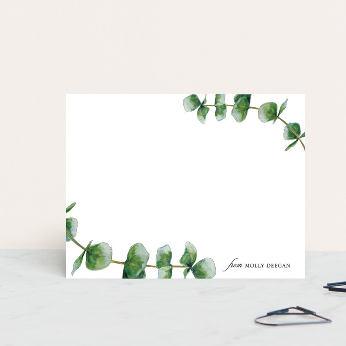 """eucalyptus"" - Personalized Stationery in Cloud by Erin Deegan."