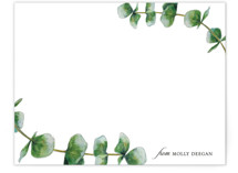 This is a green mothers day gifts stationery by Erin Deegan called eucalyptus with standard printing on signature.