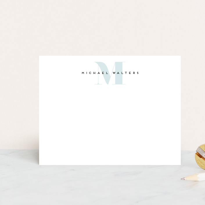 """""""Strong initial"""" - Personalized Stationery in Marine by Sweta Modi."""