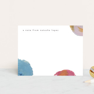 Artistic Note Personalized Stationery