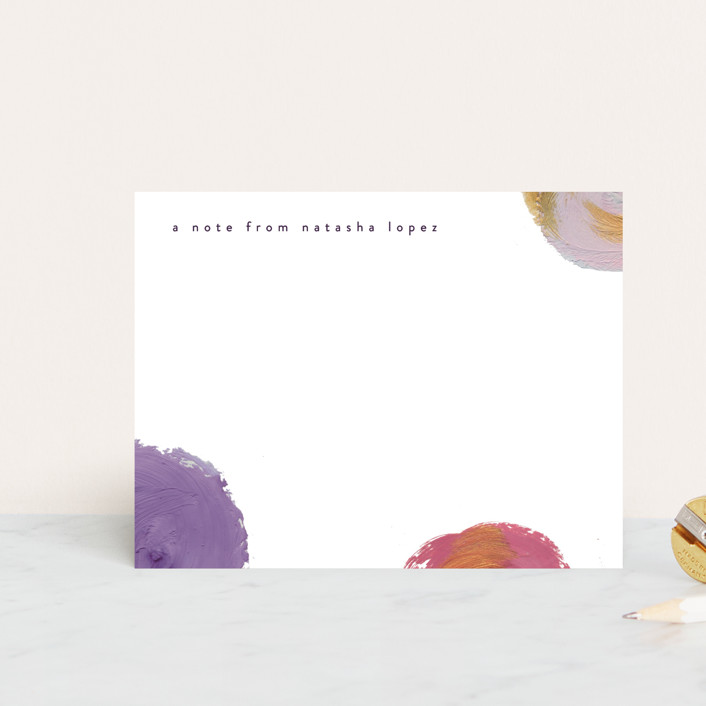 """Artistic Note"" - Personalized Stationery in Robin's Egg by lulu and isabelle."