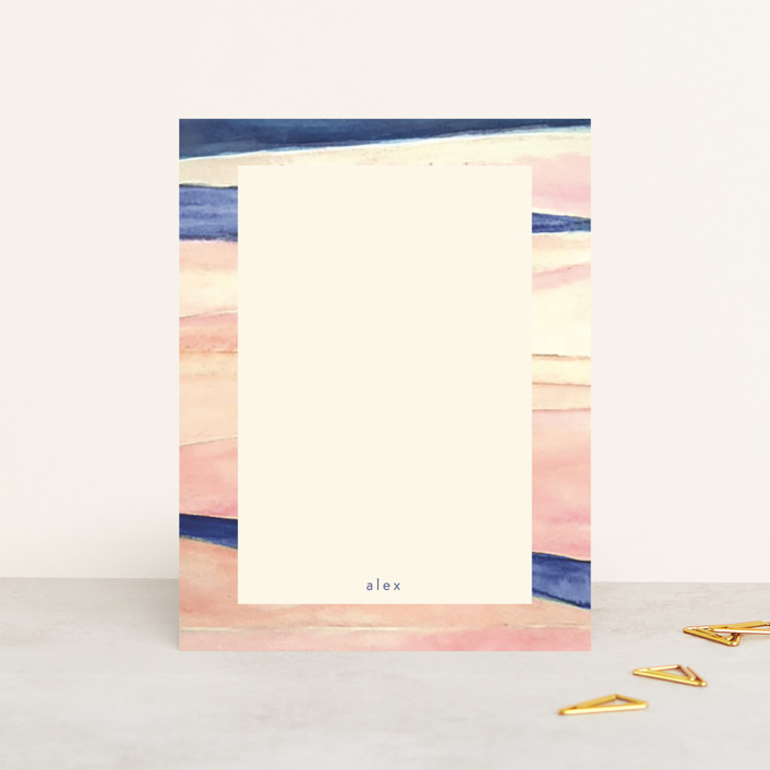 """""""Abstract Pink and Navy"""" - Personalized Stationery in Candy by Hallie Fischer."""