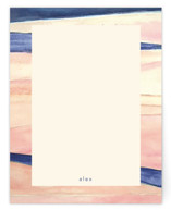 Abstract Pink and Navy by Hallie Fischer