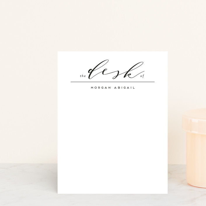 """Elegant Desk"" - Personalized Stationery in Ivory by Simona Cavallaro."