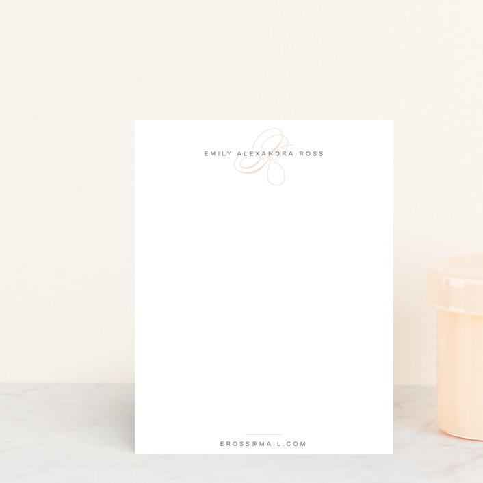 """""""Signed Swirled"""" - Personalized Stationery in Petal by Ariel Rutland."""
