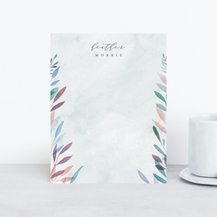 """Spring Rain"" - Personalized Stationery in Showers by Everett Paper Goods."