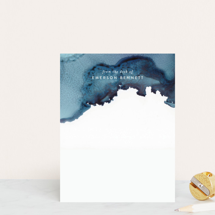 """Gravity"" - Personalized Stationery in Navy by Itsy Belle Studio."