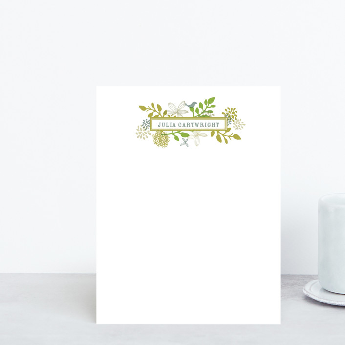 """""""Fling"""" - Personalized Stationery in Leaf by Andrea Mentzer."""