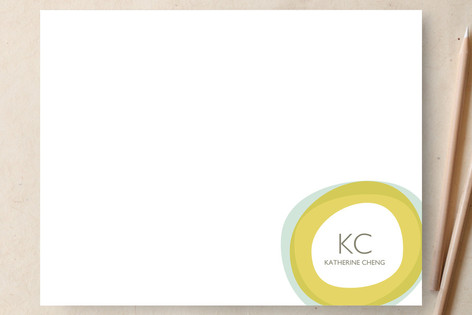 Two Circles Personalized Stationery