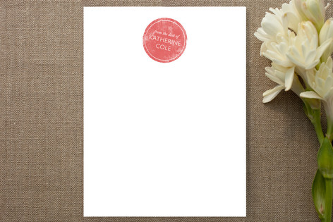 Stamp Personalized Stationery
