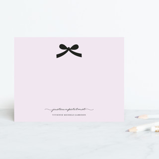 Paris + Vintage Ribbon Personalized Stationery