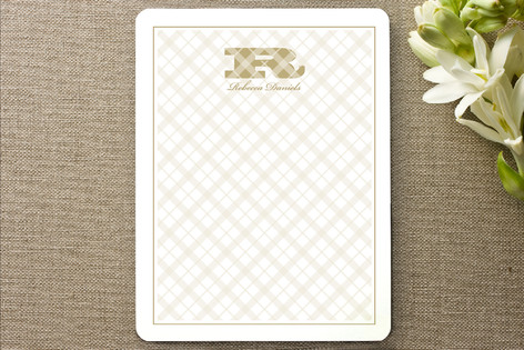 Pleasing Plaid Personalized Stationery
