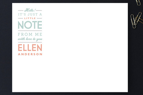 Little Note Personalized Stationery