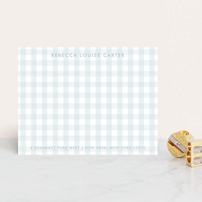 """""""Gramercy"""" - Classical, Preppy Personalized Stationery in Powder Blue by The Social Type."""