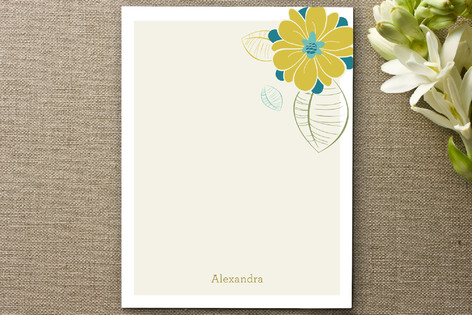 Flower Power Personalized Stationery