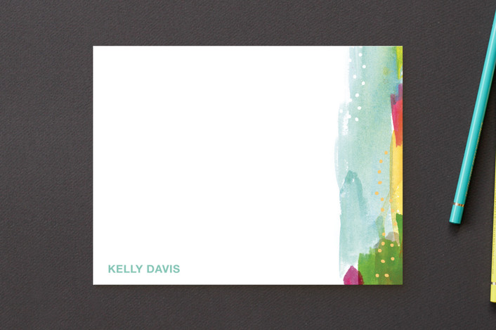 """Play"" - Personalized Stationery in Aqua by sue prue."