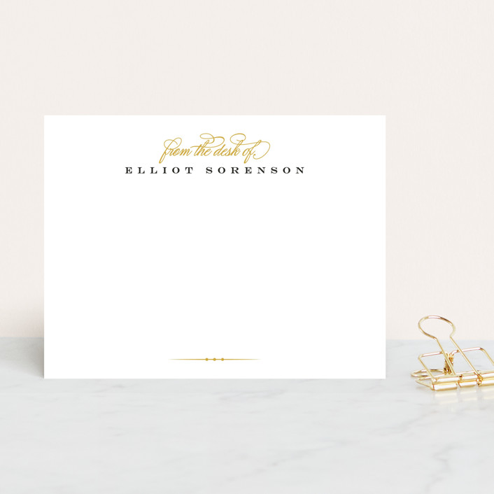 """Polished"" - Classical, Classical Personalized Stationery in Gold by Jessica Williams."