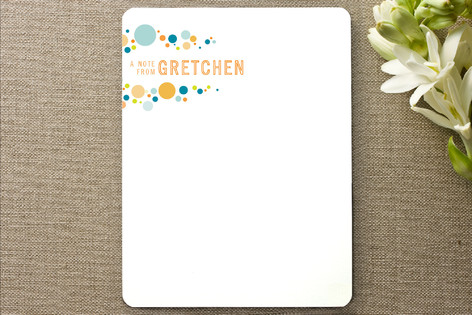 pop dot Personalized Stationery