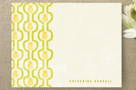 pineapple pattern Personalized Stationery